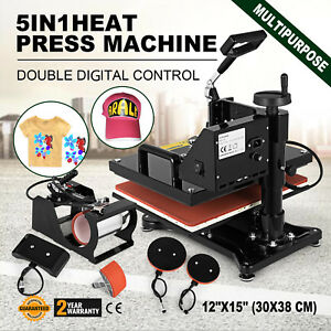5in1 Combo T shirt Heat Press Transfe Machine Printing Pressing