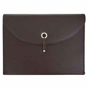 Pu Leather Expanding File Portable Accordion Document Folder Organize Brown