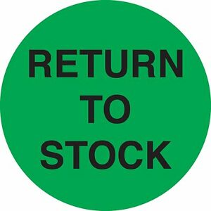 Adhesive Label Preprinted Round Return To Stock Inventory Control Label 2 inch
