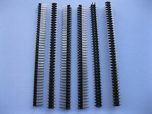 200 Pcs Smd Smt 2 54mm 2x40 80pin Male Pin Header Double Row Strip