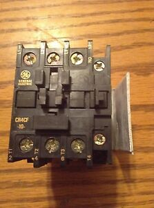 New Ge Magnetic Contactor Cr4cfa 120v Coil 3pole