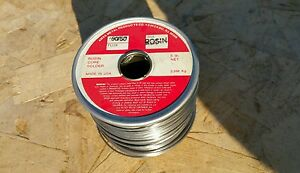 5lb Spool 063 Dia Rosin Core 50 50 Lead Electronics Solder Made In Usa Nos