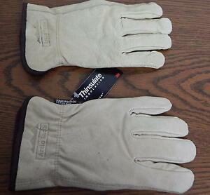Artic Jack 100 Gram Thinsulate Insulation Lined Pigskin Gloves Nwt