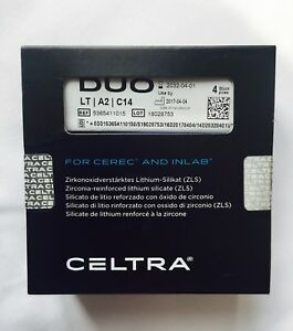 Celtra Duo Dentsply Lt A2 C14 Blocks For Cerec And Inlab 4 Piece new