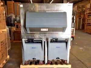 Its 1350sg 60 Follet Ice Storage Bin And Ice Cart Transport System W Two Carts