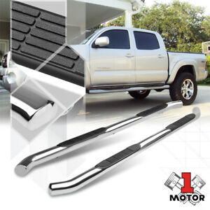 Chrome 3 round Side Step Nerf Bar Running Board For 05 20 Tacoma Double crew Cab