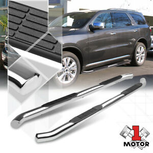 Chrome 3 Round Tube Side Step Nerf Bar Running Board For 11 17 Dodge Durango
