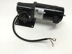 Bodine Electric 24a4fepm 3f Dc Gearmotor Right Angle Shaft 130vdc 60 1