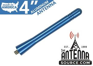 Short 4 Aluminum Blue Antenna Mast Fits 2008 2014 Dodge Avenger