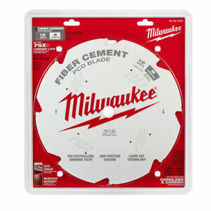 Milwaukee 48 40 7020 12 In Pcd fiber Cement Circular Saw Blade New