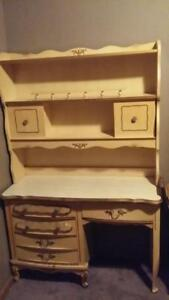 French Provincial Vintage Girls Bedroom Furniture Desk Bookcase Bonnet By Sears