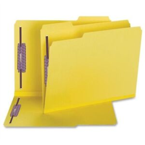 Smead 14939 Yellow Colored Pressboard Fastener File Folders With smd14939