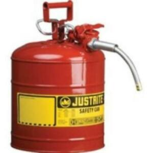 Red Metal Safety Can Type Ll Two Gallon Capacity With 5 8 X 9 Flexible