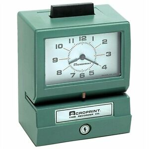 Acroprint Model 125 Time Clock Card Punch stamp 100 Employee 01107040a