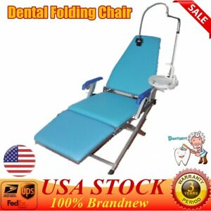Dental Portable Folding Chair Unit Led Light Water Supply System Cuspidor Tray