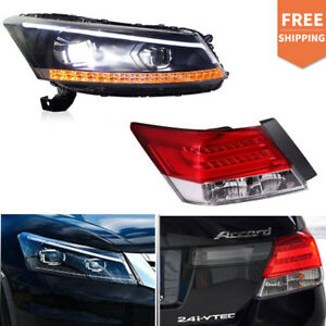Led Headlights Tail Lights Drl Projector Lamp For Honda Accord 2008 2012 3 5l