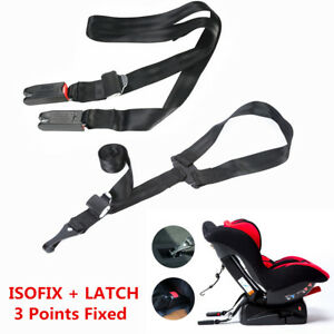 3 Points Fixed Car Safety Seat Isofix Latch Belt Connector For Car Child Seats