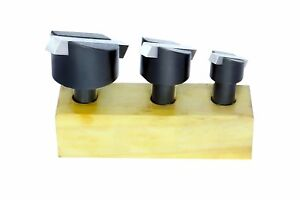 Set Of 3 Pcs Fly Cutting Tool Set With Hss Bit 1 2 Shank For Lathe Milling