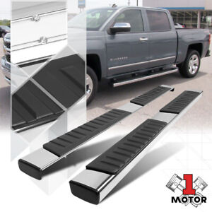 Chrome Running Board 6 Side Step Nerf Bar For 07 19 Sierra silverado Ext Cab