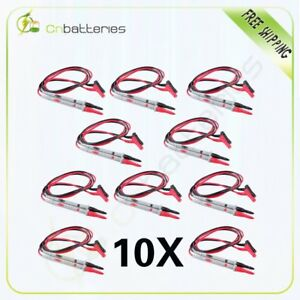 10 Silicone 1000v 20a Set Universal Probe Test Leads Pin For Multimeter Meter