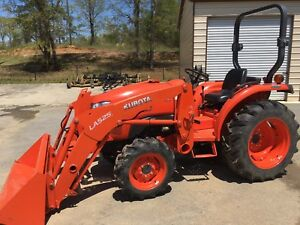 2016 Kubota L2501d 4wd Tractor Loader With Tiller And Rotary Cutter