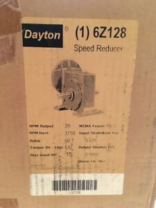 brand New 6z128 Dayton Speed Reducer 1750rpm In 29 Rpm Out