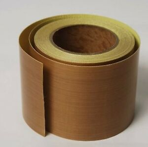 0 25mm X 5 x 33ft Brown Ptfe Teflon High Temp Adhesive Tape With Release Liner
