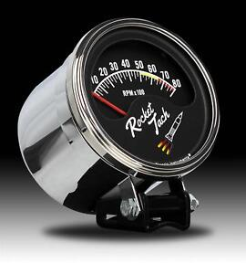 Classic Instruments Rt80slf Rocket Tach 3 3 8 Tach And Chrome Cup