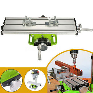 Milling Machine Compound Work Table Cross Slide Bench Drill Press Vise Fixture N