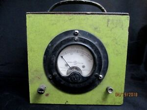 Vintage And Rare G e D c Voltmeter Type Dw 41 Model 8dw41v Free Shipping