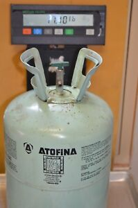 Partial Forane Atofina R 134a Refrigerant 30lb Cylinder 17 10 Lbs Gross Weight