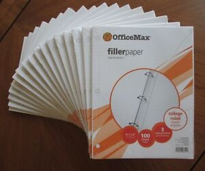 Officemax College Ruled Loose Leaf Filler Paper 1700 Sheets 17 100 count Packs
