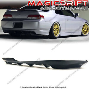 For 97 01 Honda Prelude Bb6 Mug Mu 4 fin Style Rear Bumper Lower Diffuser Lip