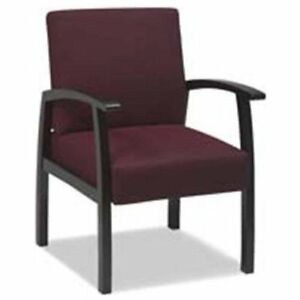 Lorell Deluxe Guest Chair Mahogany Frame 24 X 25 X 35 5 llr68551