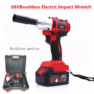 360n M 68v Brushless Electric Impact Wrench Drill Cordless Rechargeable 7800ah