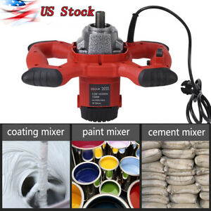 1500w Handheld 6 speed Electric Mixer Stirring Mortar Paint Cement Grout Ac 110v