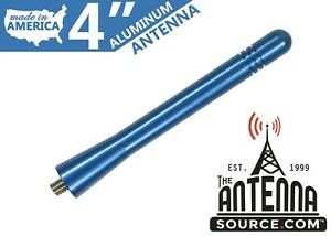 Short 4 Aluminum Blue Antenna Mast Fits 2003 2015 Honda Civic Hybrid