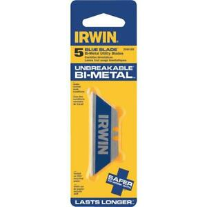 6 irwin Blue Blade 2 point 2 3 8 Long Utility Knife Blade 5 pack 2084100