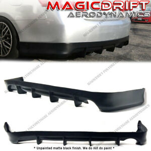 For 07 11 Toyota Camry Df Style Rear Aero 4fin Bumper Lip Lower Diffuser