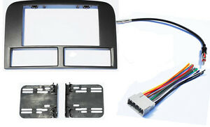 Double Din Radio Stereo Navigation Bezel Dash Kit Fits Jeep Grand Cherokee