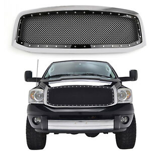 New Rivet Style Mesh Grille shell For Dodge Ram 1500 2500 3500 2006 2008 Cr E3