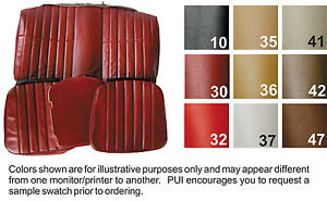 1974 1976 Chevy Camaro Coupe Standard Rear Seat Cover Colors Available