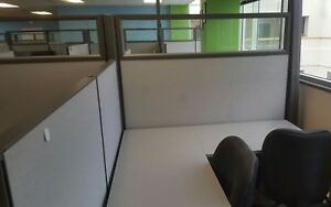 1 Of 20 Herman Miller Action Office Ao2 1 4 Glass Cubicles Just 549 Each