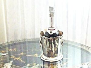 Fabulous Antique Vintage Silver Plated Champagne Ice Bucket Carrington England