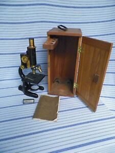 Vintage Bausch Lomb Monocular Compound Microscope W case Use And Care Book
