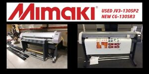 Mimaki Jv3 130 Sp2 Used Solvent Printer With Brand New Mimaki Cg 130 Sr 3 Cutter