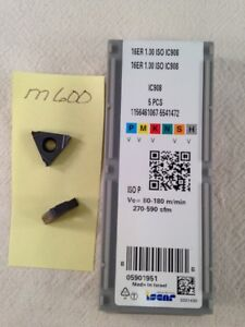 5 New Iscar 16er 1 00 Iso Threading Carbide Inserts Grade Ic908 m600