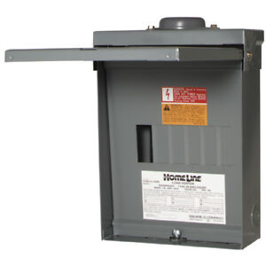 Square D 100 amp 12 circuit 6 space Outdoor Main Lug Load Center Panel Box New