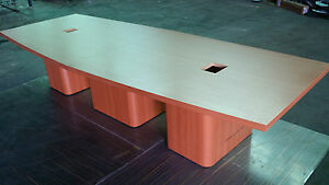 Conference Table 12 Ft Boat Shaped