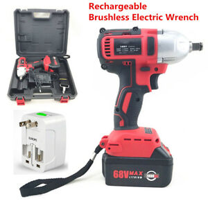 360n M 68v Brushless Electric Impact Wrench Cordless Rechargeable 7800ah Battery